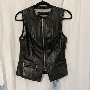 Kenneth Cole genuine leather vest
